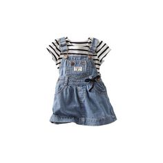 Striped to Twirl ($14) ❤ liked on Polyvore featuring baby, baby clothes, kids, baby girl and baby girl clothes