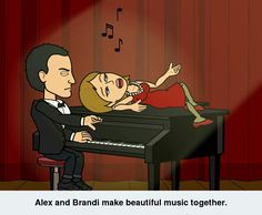 Alex and Brandi make beautiful music together.
