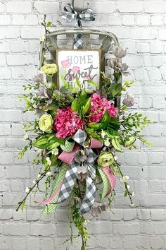 Welcome to the April 2019 showcase of beautiful wreaths and centerpieces! These stunning creations were made by designers in the Trendy Tree Marketing Wreath Crafts, Diy Wreath, Summer Door Decorations, Tobacco Basket, Summer Wreath, Spring Wreaths, Floral Arrangements, Fashionable Outfits, Dressy Outfits