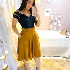 Shop sexy club dresses, jeans, shoes, bodysuits, skirts and more. Modest Wear, Modest Dresses, Modest Outfits, Cute Skirt Outfits, Cute Skirts, Long Skirt Fashion, Fashion Dresses, Cute Fashion, Womens Fashion