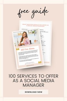 Ever wanted to be a Social Media Manager but don't know yet what services you should offer? I put together this guide to help you get clear on which services you want to focus on based on what you already know. Download this free guide to know more. Social Media Services, Social Media Content, Social Media Tips, Social Media Marketing, Best Online Jobs, Successful Online Businesses, Influencer Marketing, Virtual Assistant, Internet Marketing