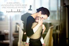 df4b3358df2d Petite Echarpe Sans Noeud - Gris Chiné, Bleu Canard (reversible)   Love  Radius, by JPMBB ®   Porte bébé sling