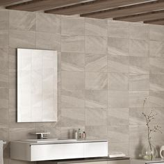 Fiji Grey Matt Stone Effect Ceramic Wall Tile  Pack Of 10  (L)400Mm (W)250Mm