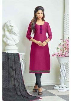 couleur rose churidar Chanderi costume, -  72,00 €,  #Salwarkameezmariage  #Salwarkameezfrance  #Salwarkameezfemme  #Shopkund