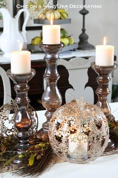fall centerpiece and 50 pier 1 imports gift card giveaway by chic on a shoestring - Pier One Halloween