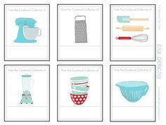 Free printable cookbook bookplates