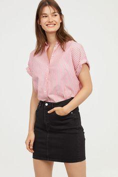 Джинсовая юбка - Черный деним - Женщины | H&M RU 1