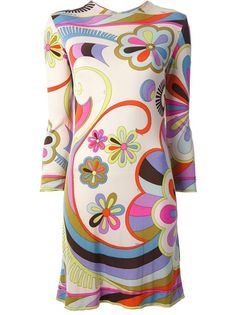 Dresses by Emilio Pucci 60s And 70s Fashion, 60 Fashion, Fashion History, Retro Fashion, Vintage Fashion, Fashion Design, Dress Fashion, Emilio Pucci, Moda Vintage