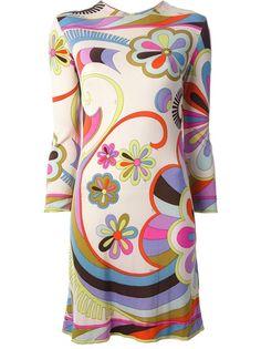 EMILIO PUCCI VINTAGE - 1960s floral print dress 6 ~ETS #pucci #fabvintage