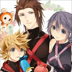 Tags: Anime, Aqua (Kingdom Hearts), Kingdom Hearts: Birth by Sleep, Terra, Ventus
