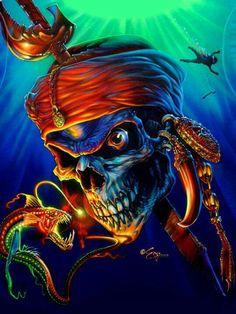 Diy Diamond Skull Cross Stitch Horror Halloween Acupuncture Home Decoration Full Round Diamond Embroidery Pirate Art, Pirate Skull, Pirate Life, Dark Artwork, Skull Artwork, Totenkopf Tattoos, Skull Pictures, Skull Wallpaper, Skull Tattoos