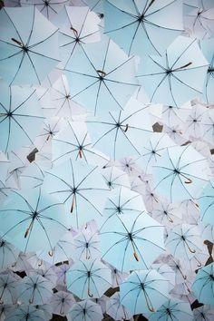 Canopy of 1,100 umbrellas above  2015 Habitare Design Fair