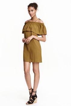 Vestido de ombros descobertos | H&M