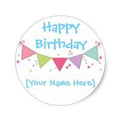 Happy Birthday Customizable Sticker Sheet