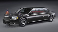 Three guesses as to what the next Presidential Limo will look like. Limousine Car, Chrysler 300c, Chrysler Imperial, American Auto, Conceptual Design, Armored Vehicles, Future Car, Automotive Design, Mopar