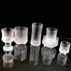 Tapio Wirkkala vintage 'Ultima Thule' glass, made by Iittala Finland, 1960's, 1970's. Mid-century Modern.