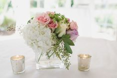 Kristin & Matt {Patriots Point} | Wedding Row Grand  Strand #weddings #weddingblooms #weddingflowers #hydrangea #eucalyptus #centerpieces