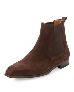 Suede Ankle Boot, Brown by Magnanni at Last Call by Neiman Marcus.