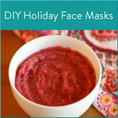 Don't let the holidays stress you out. Try our amazing DIY holiday face masks!