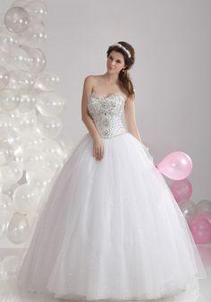 Glamorous-Dramatic Court Train Sweetheart Ball Gown Wedding Dress