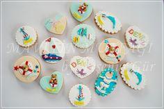 Kız bebek için özel tasarlanmış hediyelik ''Deniz'' temalı butik kurabiyeler...