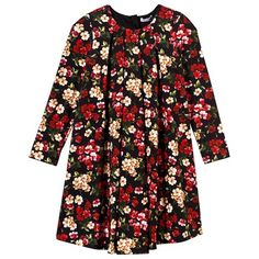 Floral Jersey Long Sleeve Dress