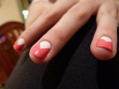triangle mani colors. Nails.
