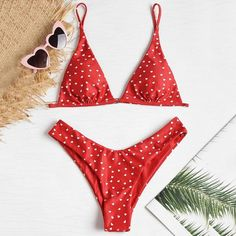 S ~ L Bikini Set Badebekleidung Häkeln Mikro Stricken Halter BH+String