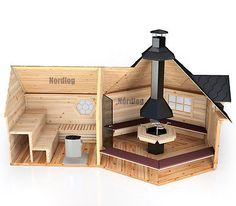 nordlog kombi grillkota mit sauna 16 5m2 saunahaus. Black Bedroom Furniture Sets. Home Design Ideas