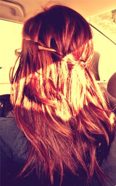 Waterfall braid I did on my sister's hair! :)
