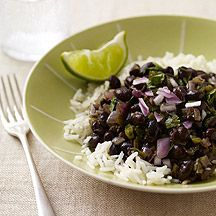 Image of black beans and rice
