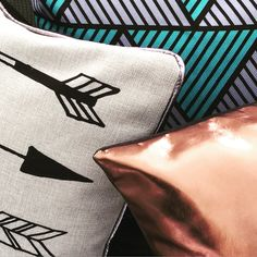 The countdown is on...  #cushions #homewares #homedecor #interior #interiors #interiordesign #prints #blackandwhite #metallic #copper