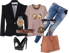 """Black Jacket"" by celene310 on Polyvore"