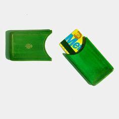 Fleur de lys leather card case