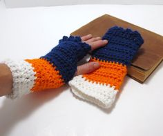 inspiration only.Broncos NFL  Wrist Warmers  Fingerless by BitchinBagsbyBenita, $22.00