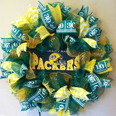 Green Bay Packers Wreath Packers sport wreath by BayWreathDesigns