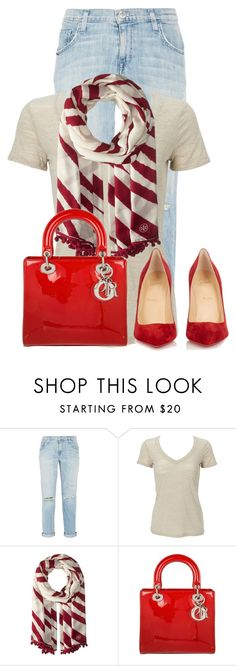 """""""Untitled #21663"""" by nanette-253 ❤ liked on Polyvore featuring Current/Elliott, Tory Burch, Christian Dior and Christian Louboutin"""