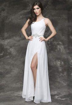 Long dress robe mousseline