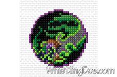 Miniature Demon Hunter Emblem Cross Stitch Pattern