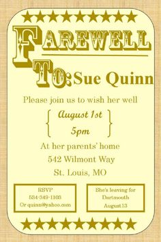 Farewell Party Invitation Editable Invitations Parties Ideas Cards
