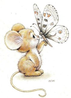 Mouse & Butterfly - Ruth Morehead