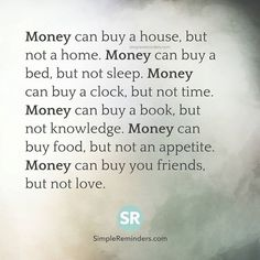 An important lesson about money. #life #happy #quotes #inspiration #motivation #love #win #sad #quoteoftheday #success #like #words #poetry #hope #wisdom #knowledge #loa #goodvibes Don't forget to check out what we recommend to help you get out of negative thinking. See our profile link at @howtothinkpositive