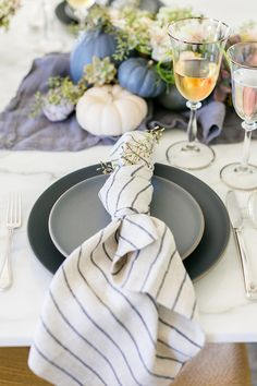 Kate Martindale's pastel Thanksgiving table set up