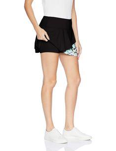 Boll/é Whiplash Asymmetrical Layered Tennis Skirt with Shorts Whiplash