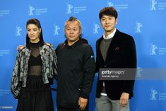Mina Fujii, Kim Ki-duk and Lee Sung-jae pose for...