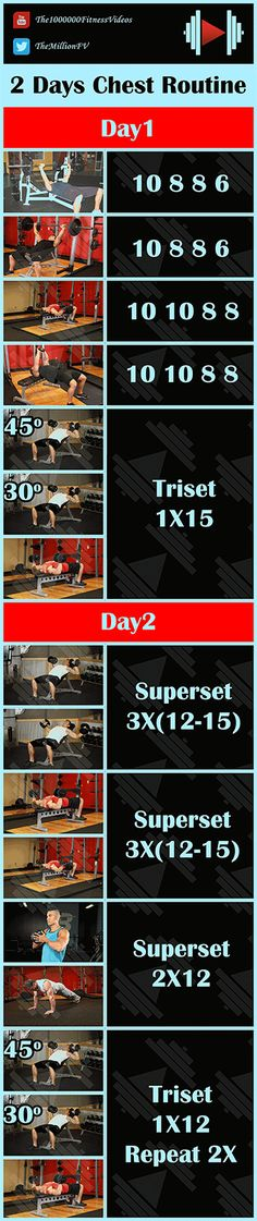 Chest Workout Routine To Build a Big Chest Chest Routine, Chest Workout Routine, Chest Workouts, Fun Workouts, Inner Chest Workout, Chest Workout For Mass, Bodybuilding Fitness, Gym, Youtube