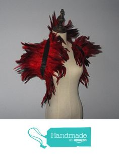 2 Layer Red Hnadmade Feather Cape SHAWL Shrug Shoulders Halloween costume ,vintage capelet for Adult from PartySupply https://www.amazon.com/dp/B019GV8ZQO/ref=hnd_sw_r_pi_dp_9pJaybB4DX8AC #handmadeatamazon