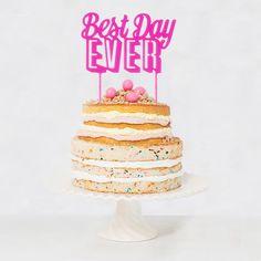 """Typo Tortenfigur für die Hochzeit oder Geburtstag / letter cake topper """"best day"""" made by Design-Grusskarten via DaWanda.com"""