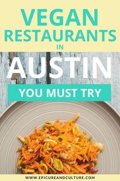 You must try these vegan restaurants in Austin, Texas! Savor vegan BBQ, tacos, breakfast and more. // #Austin #Texas #Vegan #Vegetarian Texas Travel, Usa Travel, Travel Tips, Travel Guides, Vegan Looks, Vegan Shakes, Recipe Creator, Delicious Restaurant, Vegan Restaurants
