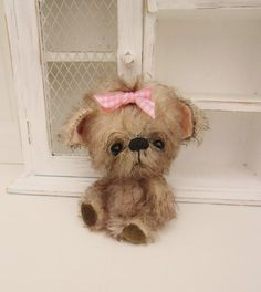 BUMPKINA cute 5 inch Mohair Yorkshire Terrier by Kazziesbruins, £65.00